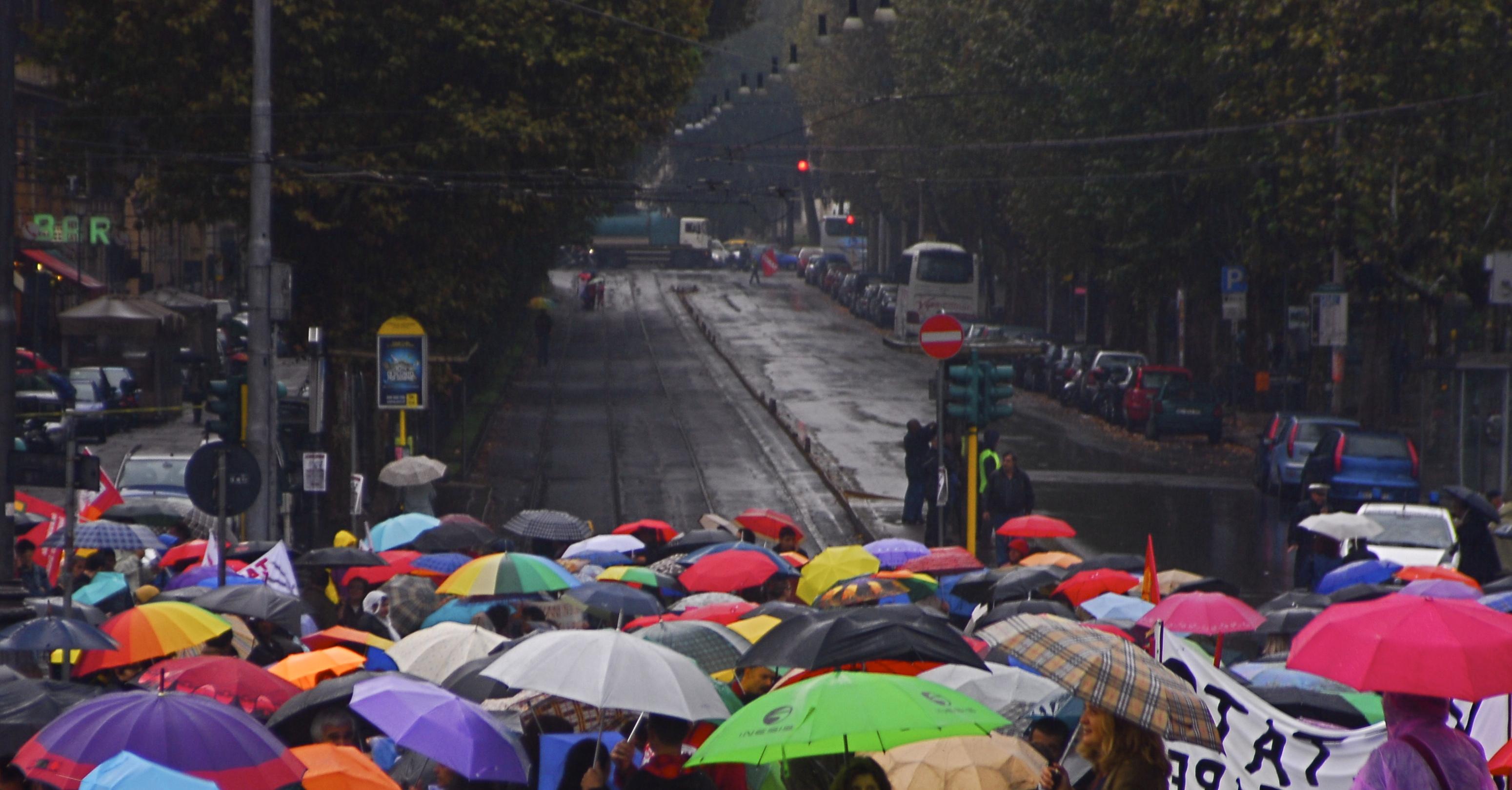 Foto di Valentina Perniciaro _Sciopero generale, 17 ottobre 2008_
