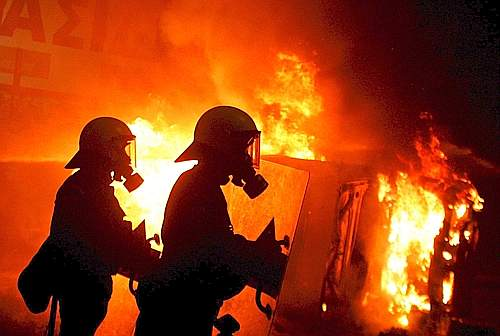 GREECE POLICE GUNFIRE