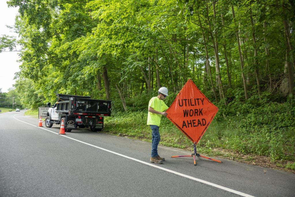 BAS Safety Signage Construction New England Broadband Contractor