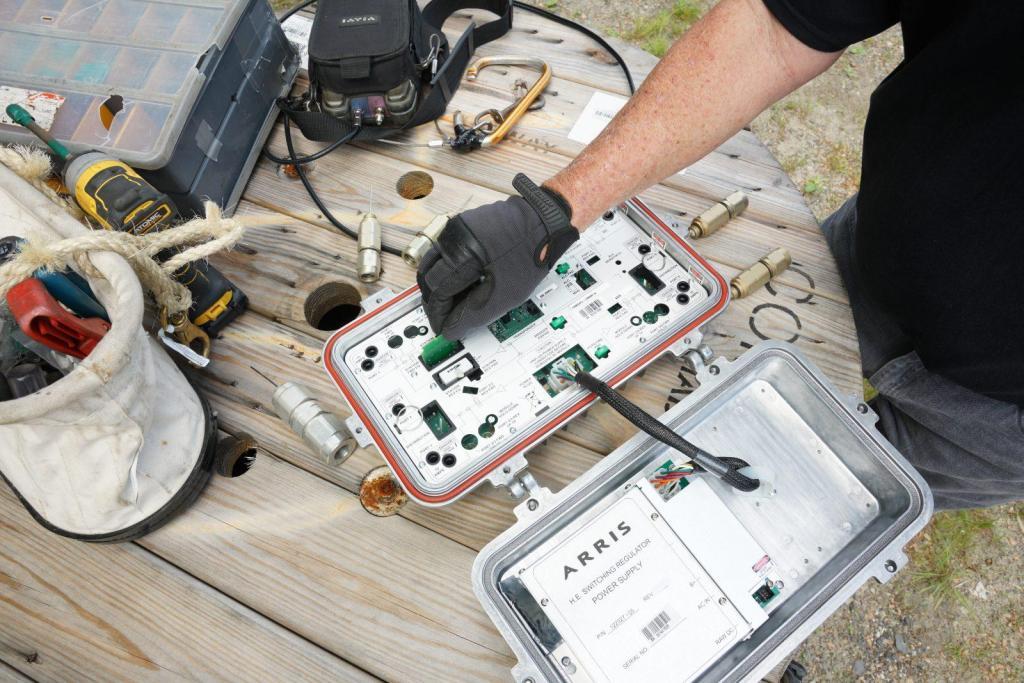 Balancing an Active Coax Amplifier