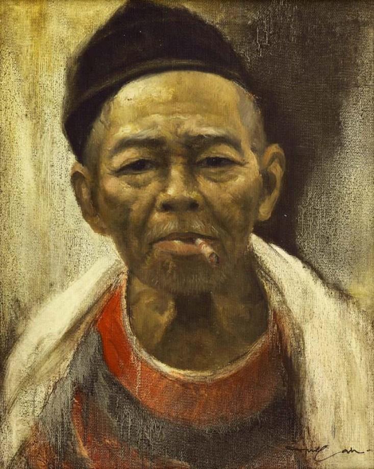 Dullah, Kakek, 50cm x 40cm, oil on canvas (USD 3,124-5,207)-Masterpiece