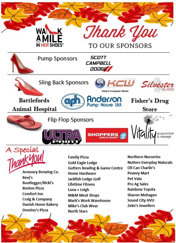 List of sponsors of Walk a Mile 2020