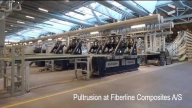 Photo of Pultrusion at Fiberline Composites A/S