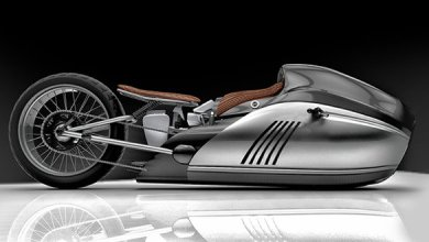 Photo of Enthusiasts created a bike concept with basalt fiber bodywork