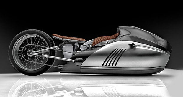 Enthusiasts created a bike concept with basalt fiber bodywork