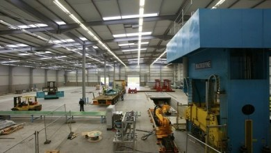 Photo of The press for manufacture large size composite products has been developed in Britain