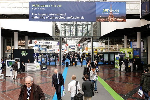 JEC World 2016 show. Source: jeccomposites.com.