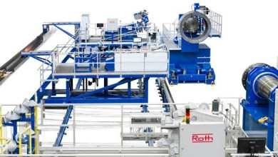 Photo of Roth Composite Machinery developed filament winding plant for aerospace
