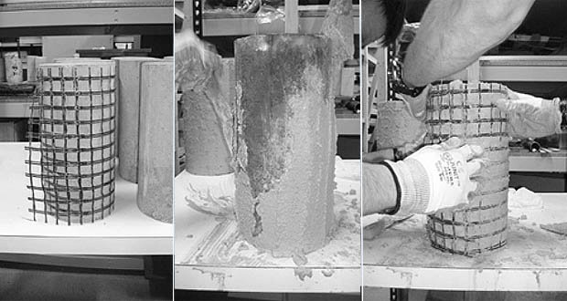 Confinement of medium strength concrete cylinders with basalt Textile Reinforced Mortar