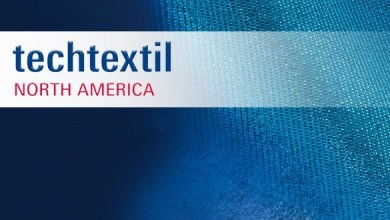 Photo of Basalt fiber knits showcased at Techtextil North America