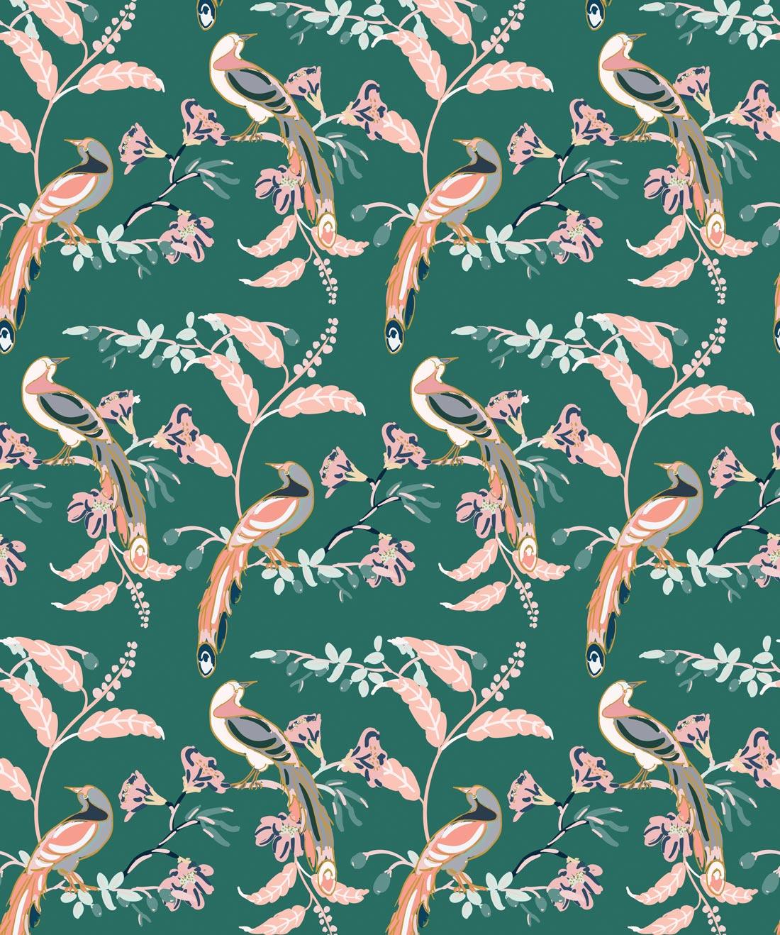 Birds of Paradise behang van Wallpaper Republic