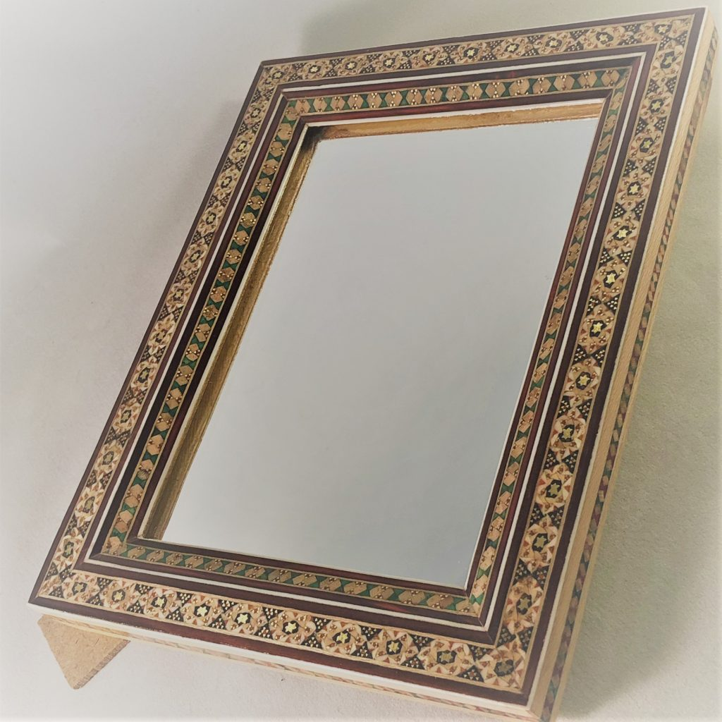 Spiegel mit Rahmen | persisch | Khatam Kari | baschkar.shop