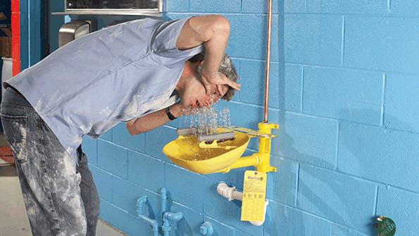 eye wash and emergency shower stations