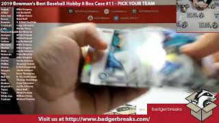 2019 Bowman Draft Baseball Jumbo 8 Box Case 17 PICK YOUR TEAM - 2019 Bowman Draft Baseball Jumbo 8 Box Case #17 - PICK YOUR TEAM