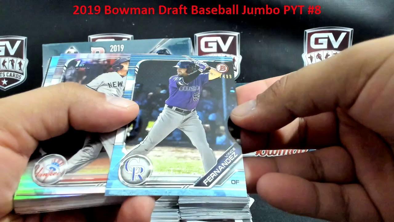 2019 Bowman Draft Baseball Jumbo 8 Box Case Pick Your Team 8 - 2019 Bowman Draft Baseball Jumbo 8 Box Case Pick Your Team #8