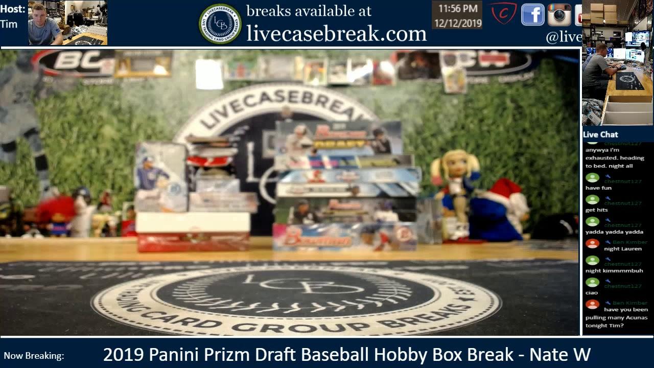 2019 Panini Prizm Draft Baseball Box Break Nate W - 2019 Panini Prizm Draft Baseball Box Break   Nate W