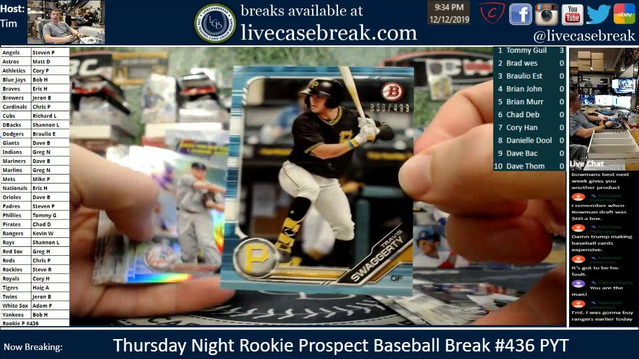 Thursday Night Rookie Prospect Baseball Break PYT 436 - Thursday Night Rookie Prospect Baseball Break PYT #436