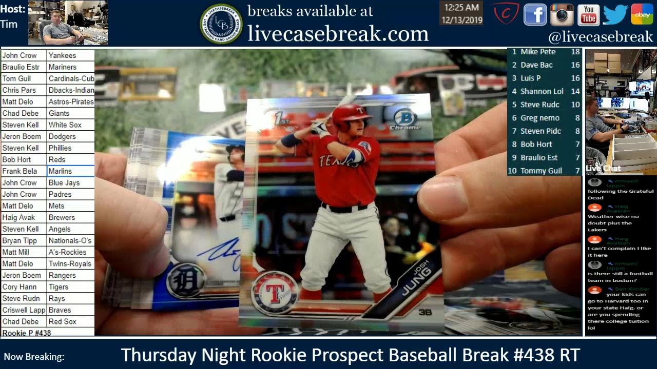 Thursday Night Rookie Prospect Baseball Break RT 438 - Thursday Night Rookie Prospect Baseball Break RT #438