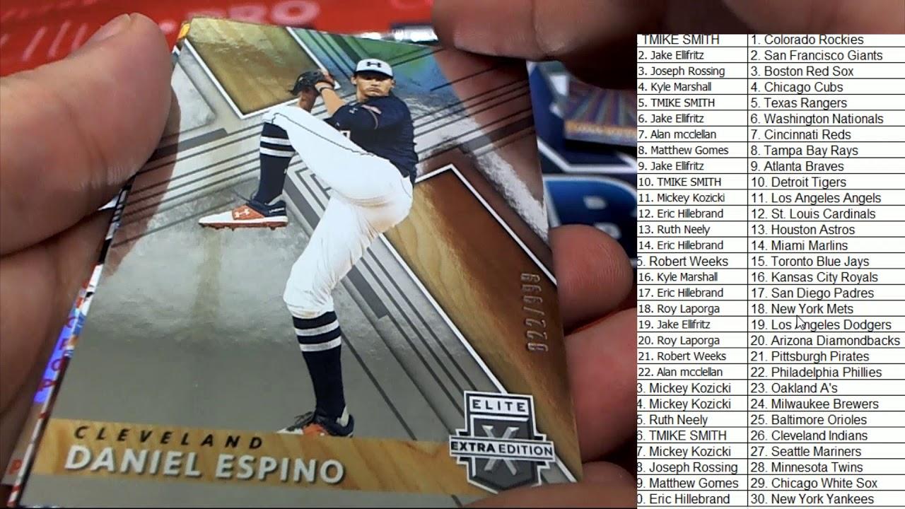 2019 Panini Elite Extra Edition Baseball Hobby Box ID 19EXTRAED337 - 2019 Panini Elite Extra Edition Baseball Hobby Box ID 19EXTRAED337
