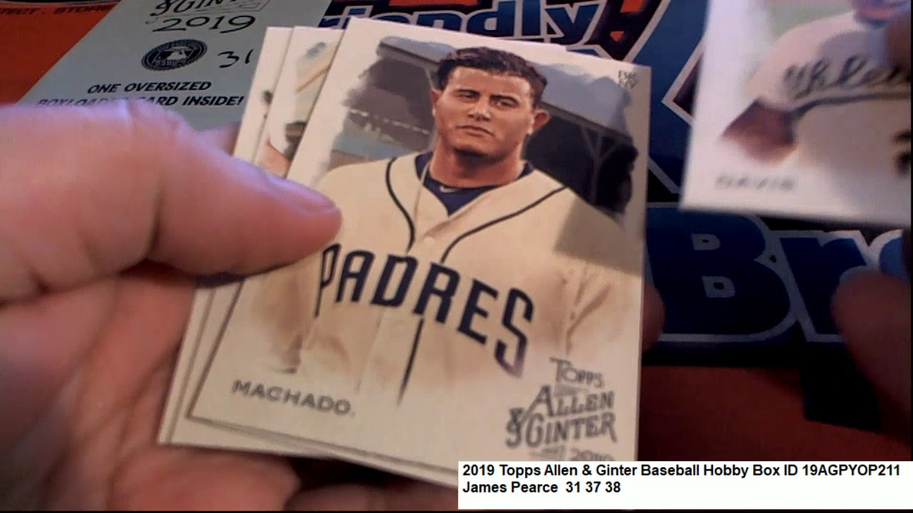 Topps Allen Ginter Baseball James Ps Pack Rip ID 19AGPYOP211 - Topps Allen & Ginter Baseball James P's Pack Rip ID 19AGPYOP211