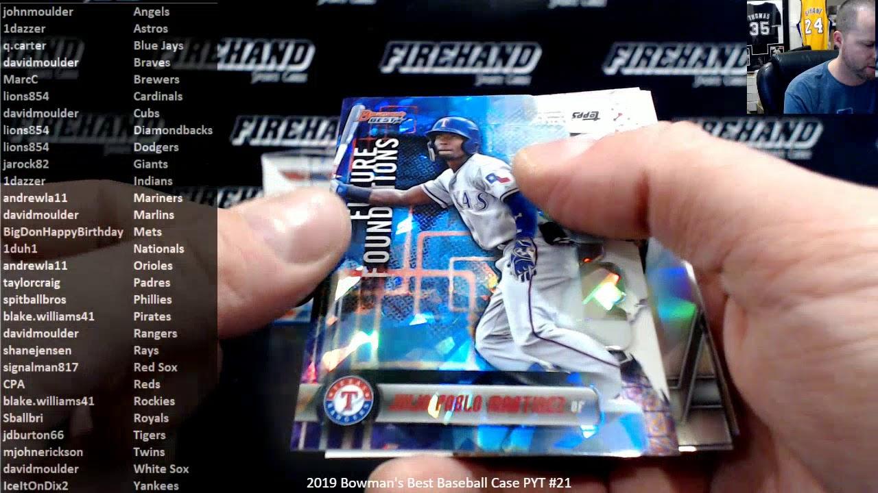 2019 Bowmans Best Baseball Case PYT 21 13120 - 2019 Bowman's Best Baseball Case PYT #21 ~ 1/31/20
