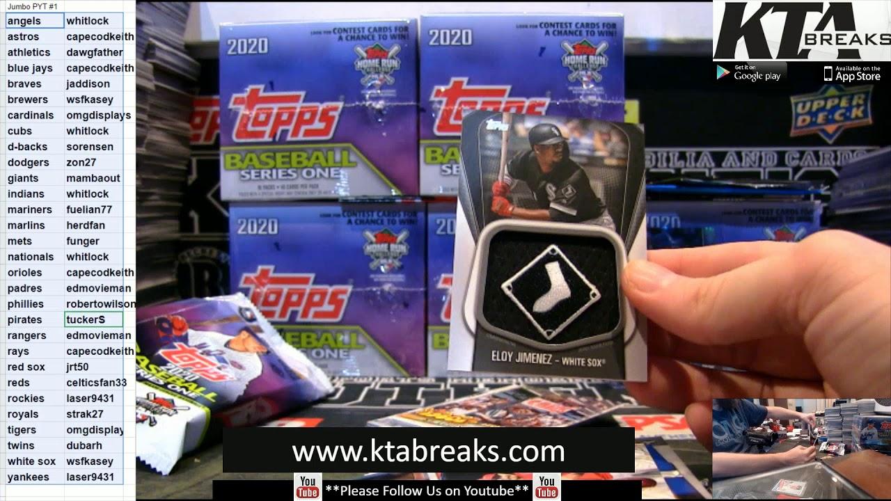 KTAuthentics 2020 Topps Series 1 baseball 6 jumbo box case break pyt 1 - KTAuthentics - 2020 Topps Series 1 baseball 6 jumbo box case break - pyt #1