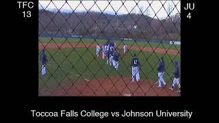 Toccoa Falls College vs Johnson University Baseball - Toccoa Falls College vs Johnson University Baseball
