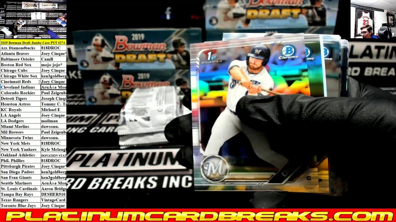 2019 Bowman Draft Baseball Jumbo 8 Box Case 274 - 2019 Bowman Draft Baseball Jumbo 8 Box Case #274