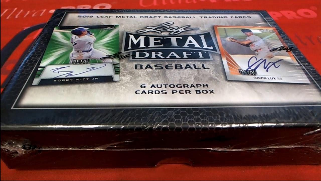 2019 Leaf Metal Draft Baseball Hobby Box ID 19LEAFMDBB912 - 2019 Leaf Metal Draft Baseball Hobby Box ID 19LEAFMDBB912