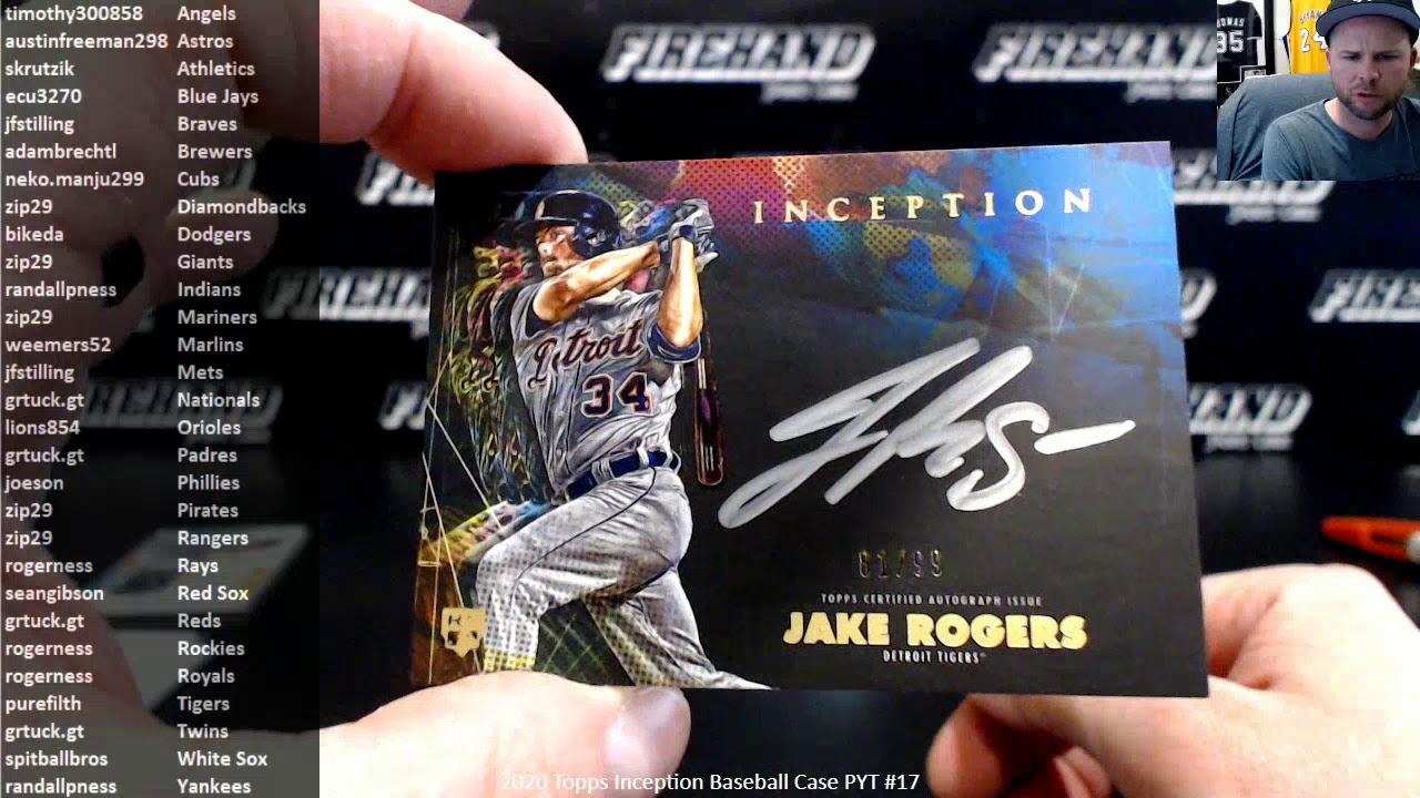 2020 Topps Inception Baseball Case PYT 17 32720 - 2020 Topps Inception Baseball Case PYT #17 ~ 3/27/20