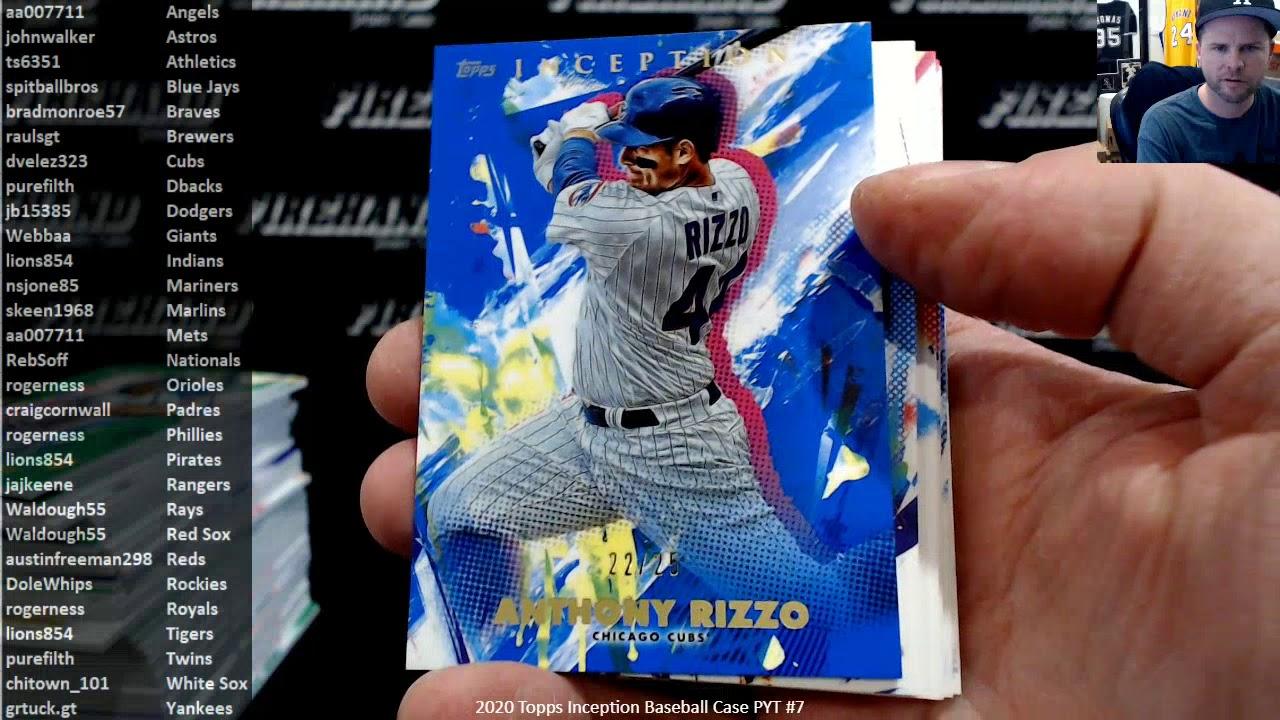 2020 Topps Inception Baseball Case PYT 7 32120 - 2020 Topps Inception Baseball Case PYT #7 ~ 3/21/20