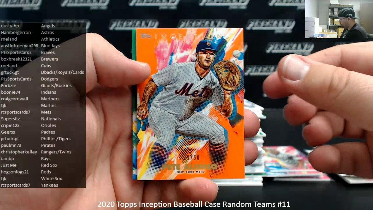 3302020 2020 Topps Inception Baseball Case Random Teams 11 - 3/30/2020 2020 Topps Inception Baseball Case Random Teams #11