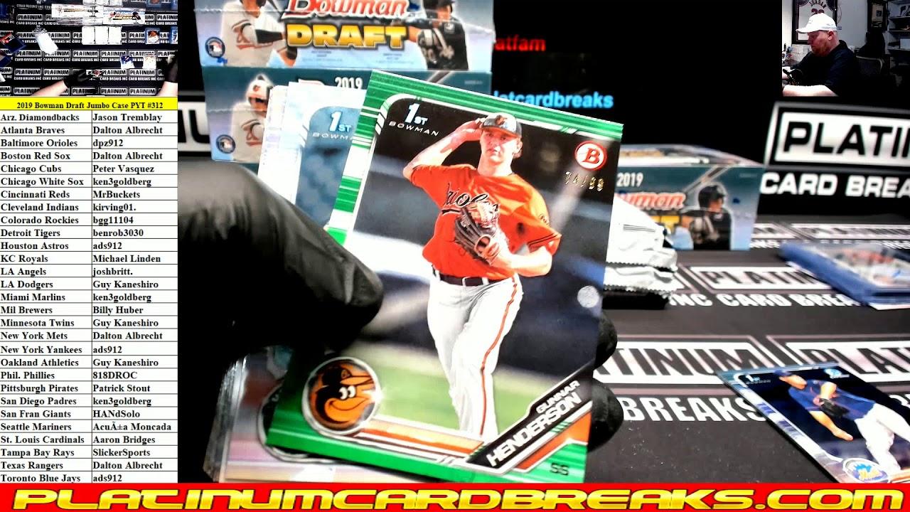 2019 Bowman Draft Baseball Jumbo 8 Box Case PYT 312 - 2019 Bowman Draft Baseball Jumbo 8 Box Case PYT #312