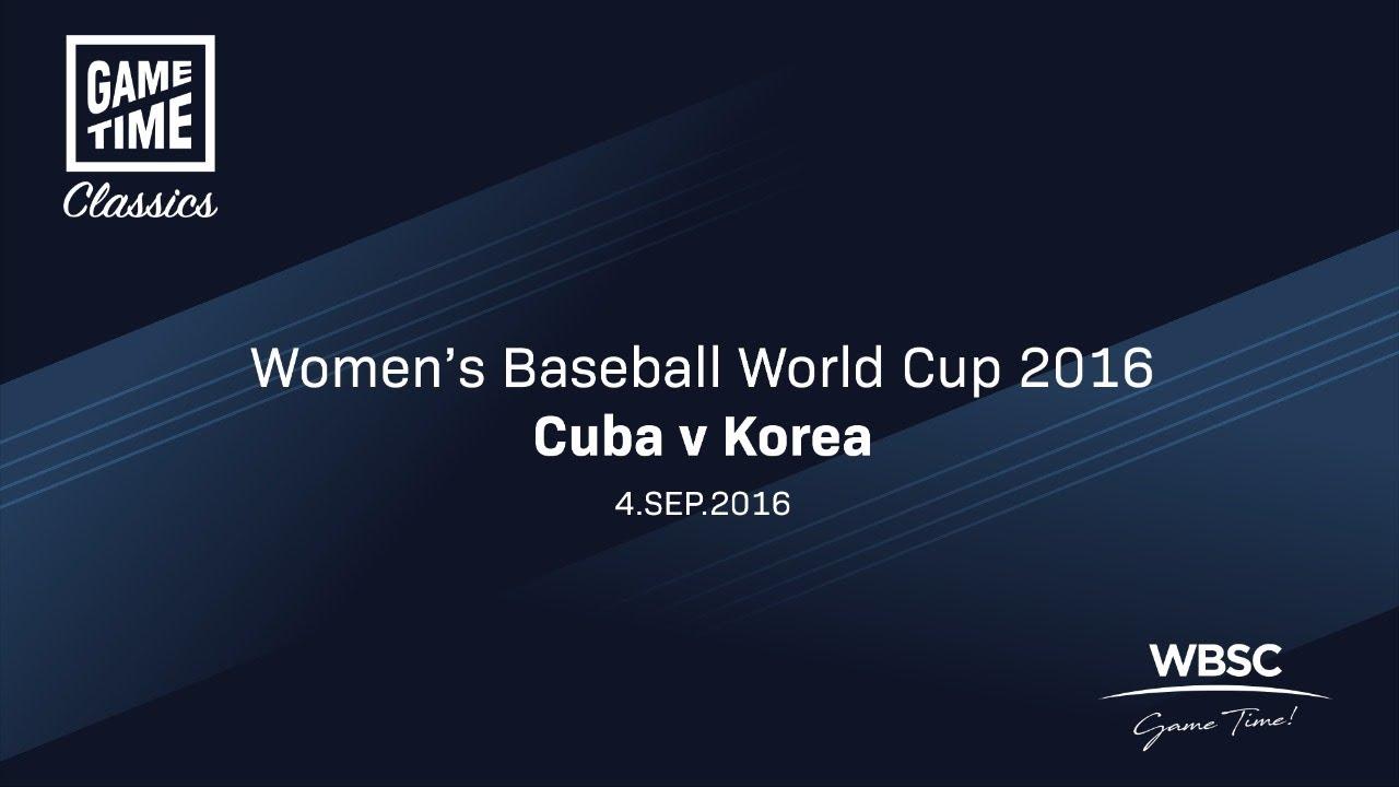 Cuba v Korea 2016 Womens Baseball World Cup - Cuba v Korea - 2016 Women's Baseball World Cup