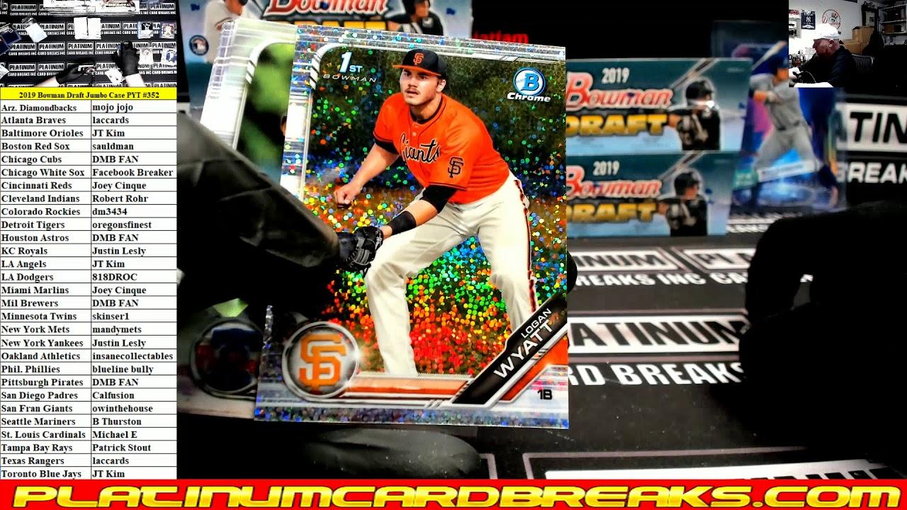 2019 Bowman Draft Baseball Jumbo 8 Box Case PYT 352 - 2019 Bowman Draft Baseball Jumbo 8 Box Case PYT #352
