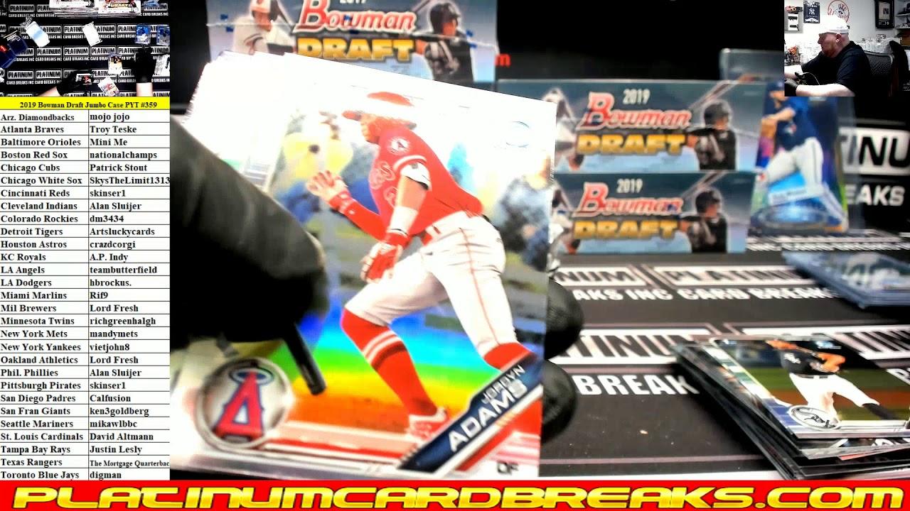 2019 Bowman Draft Baseball Jumbo 8 Box Case PYT 359 - 2019 Bowman Draft Baseball Jumbo 8 Box Case PYT #359