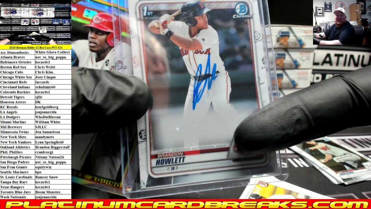2020 Bowman Baseball Hobby 12 Box Case PYT 24 - 2020 Bowman Baseball Hobby 12 Box Case PYT #24