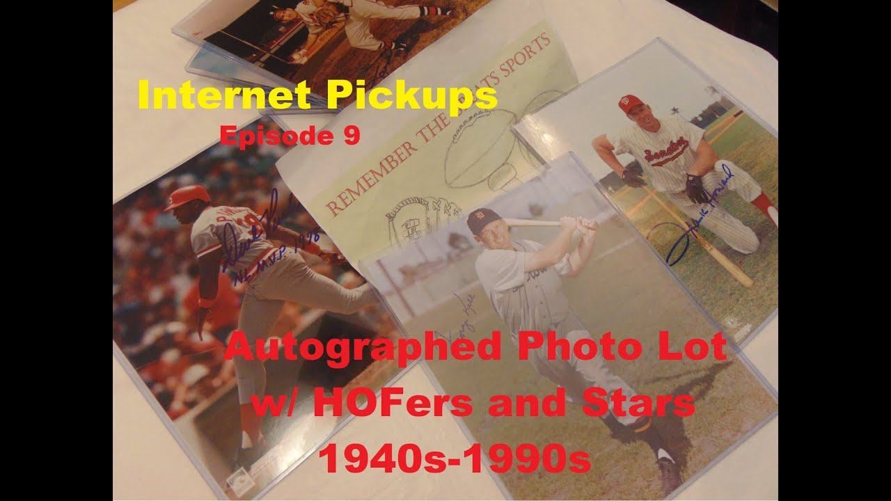Autographed Photo Lot Baseball HOFers and Stars Episode 9 - Autographed Photo Lot Baseball HOFers and Stars Episode 9