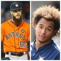 Chris Archer's Hair vs. Dallas Keuchel's Beard Battle