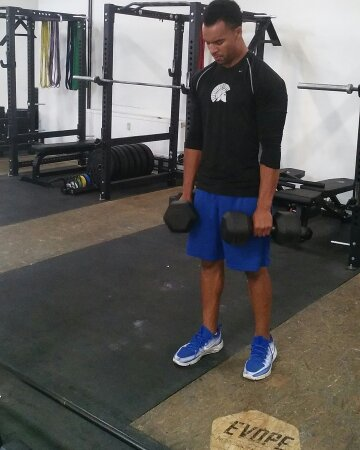 Mike with Dumbbells