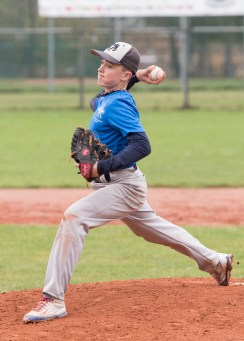 Jacob Campbell - Fastball - long stride - high elbow - pushing off the rubber