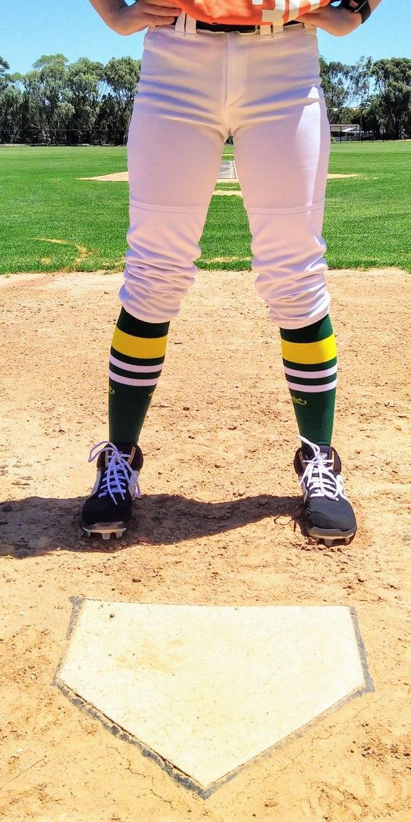 Green & Yellow OTC Baseball Socks