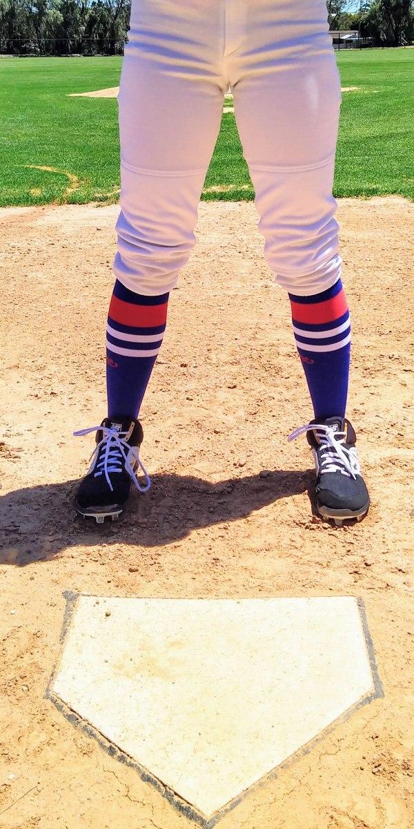 Blue & Red OTC Baseball Socks
