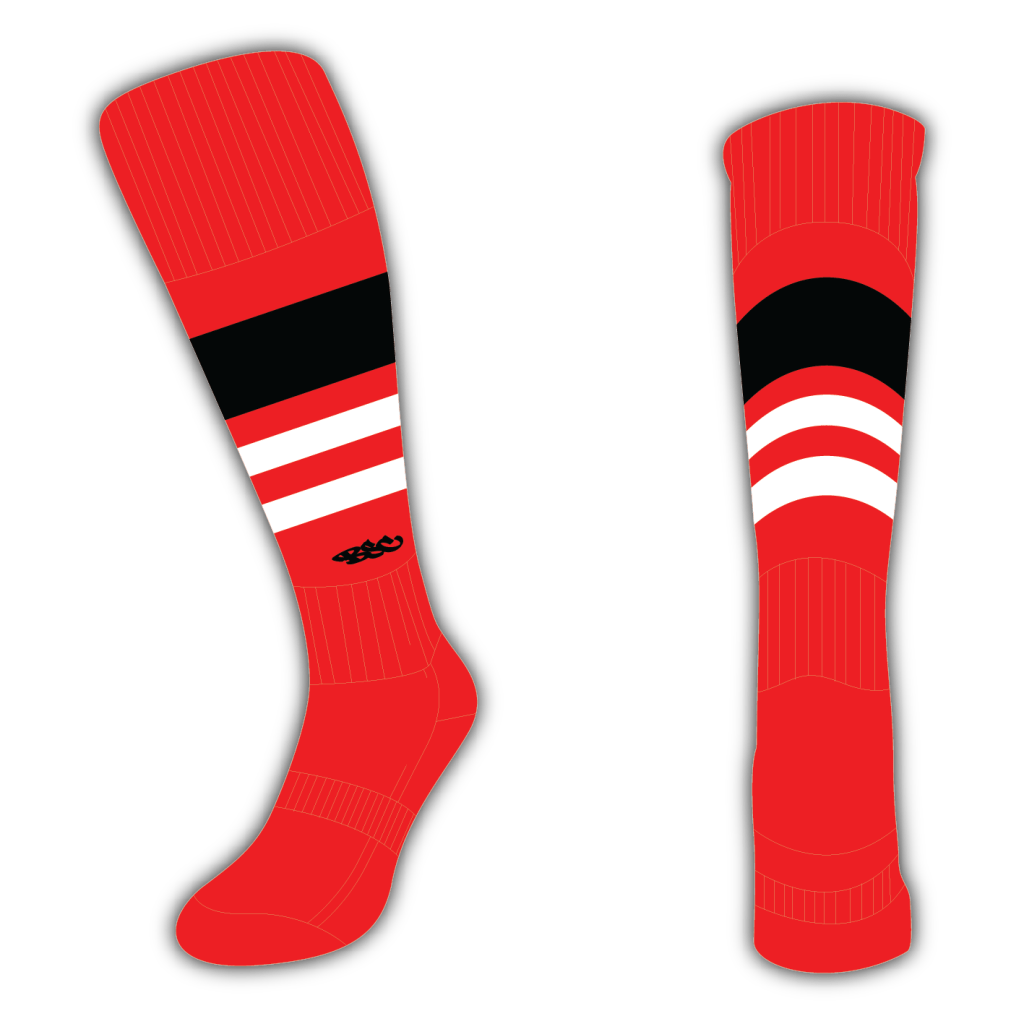 Wildcard Socks - Red, Black & White