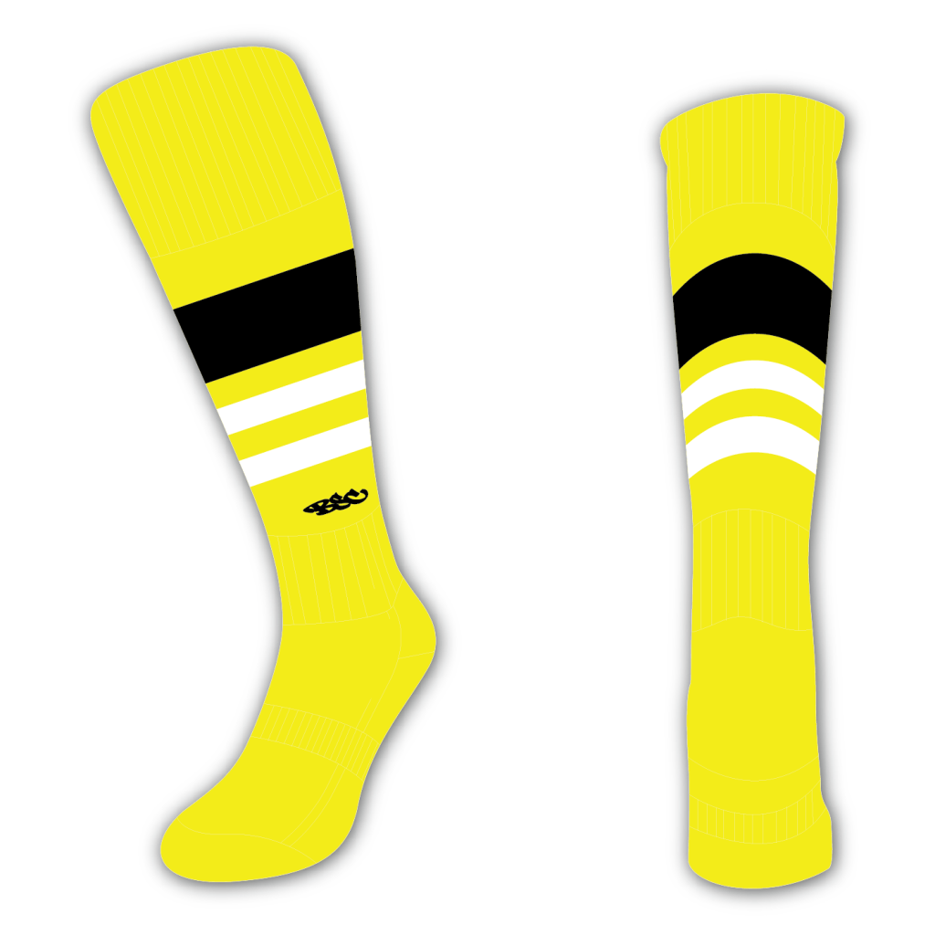 Wildcard Socks - Yellow, Black & White