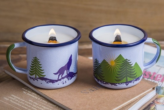 forest soy candle