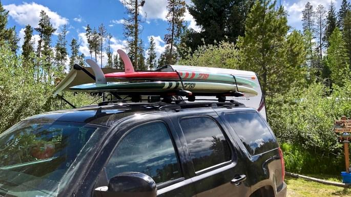 ISLE Glider Wood SUP's on Yakima SupDawg Rack