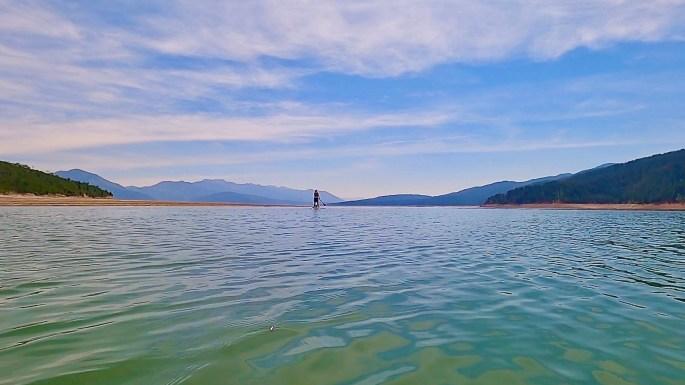Paddleboarding the Palisade Reservoir