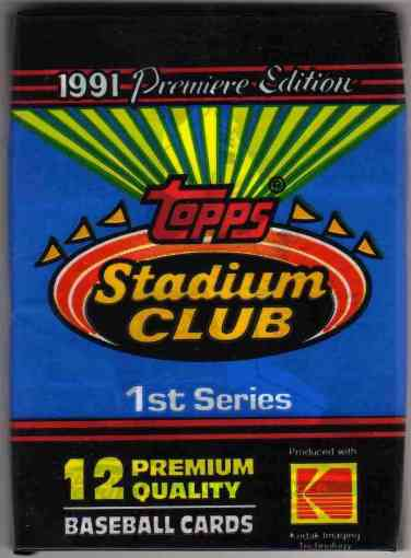 1991 Topps Stadium Club Pack
