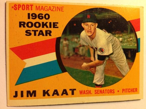 1960 Topps #136 Jim Kaat